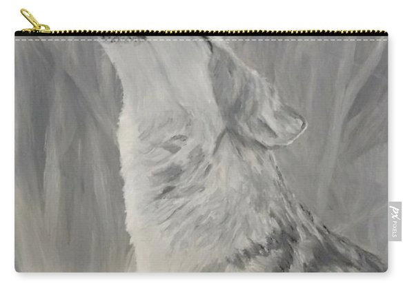 Carry-all Pouch featuring the painting Howling Wolf by Kevin Daly