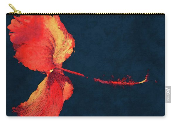 Huge Hibiscus Illustration Carry-all Pouch