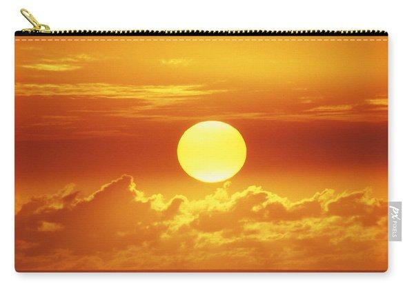 Huge Orange Sun Carry-all Pouch