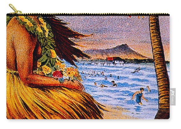 Hula Flower Girl 1915 Carry-all Pouch