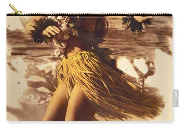 Hula On The Beach Carry-all Pouch