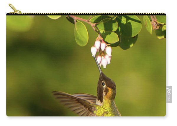 Hummingbird And Manzanita Blossom Carry-all Pouch