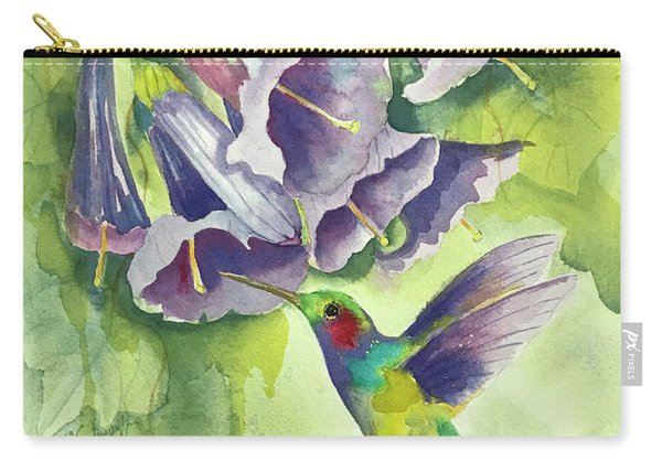 Hummingbird And Trumpets Carry-all Pouch