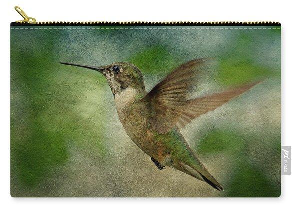 Hummingbird In Flight II Carry-all Pouch