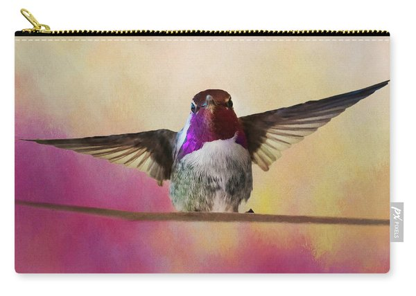 Hummingbird On A Wire Carry-all Pouch