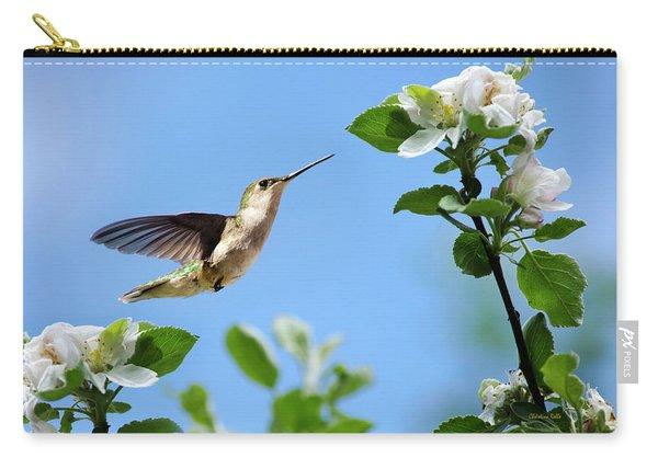 Hummingbird Springtime Carry-all Pouch