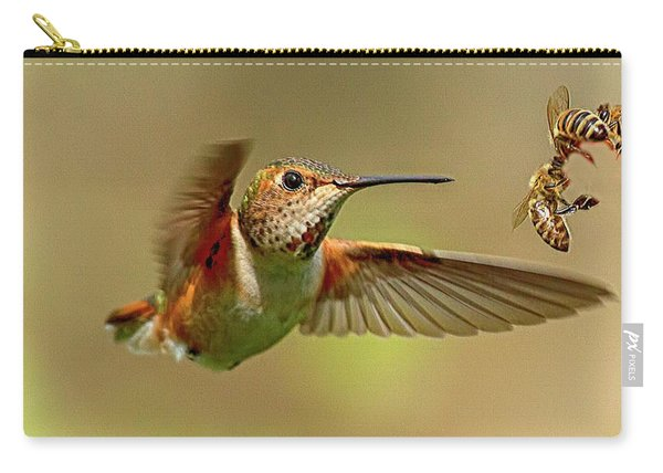 Hummingbird Vs. Bees Carry-all Pouch