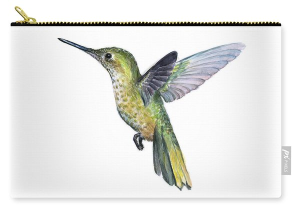 Hummingbird Watercolor Illustration Carry-all Pouch