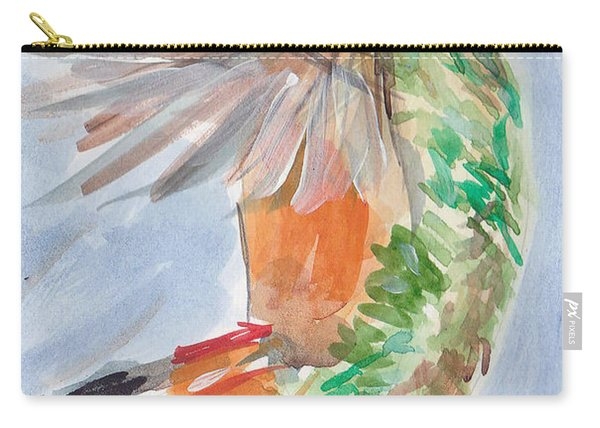 Carry-all Pouch featuring the painting Hummingbird87 by Loretta Nash