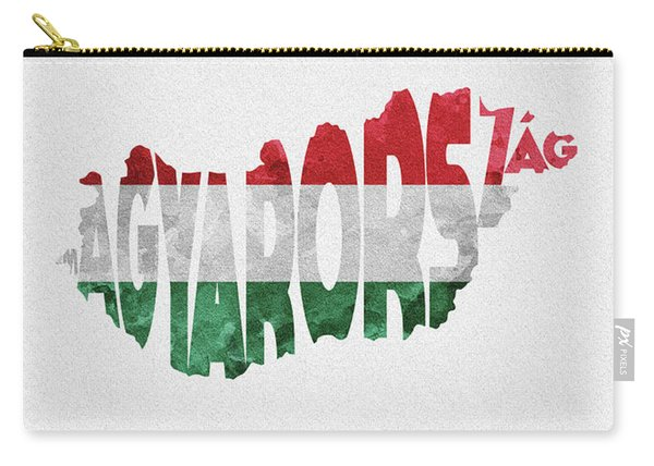 Hungary Typographic Map Flag Carry-all Pouch