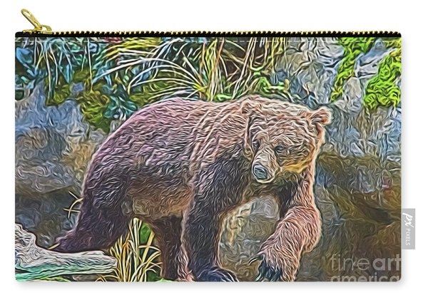 Hunting Bear Carry-all Pouch