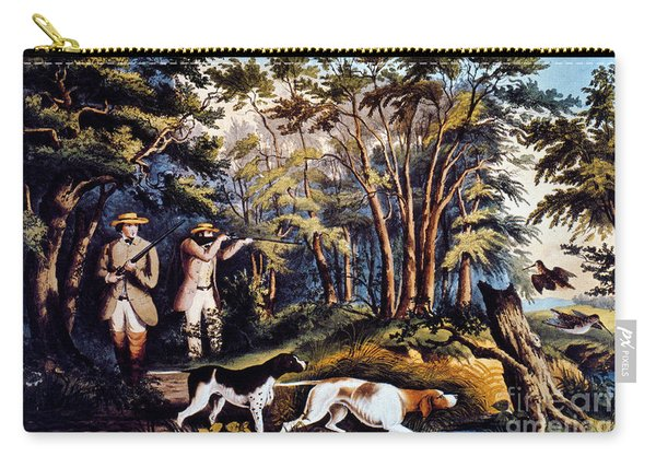 Hunting: Woodcock, 1852 Carry-all Pouch