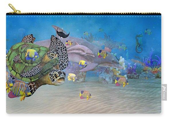 Huntington Beach Imaginative  Carry-all Pouch