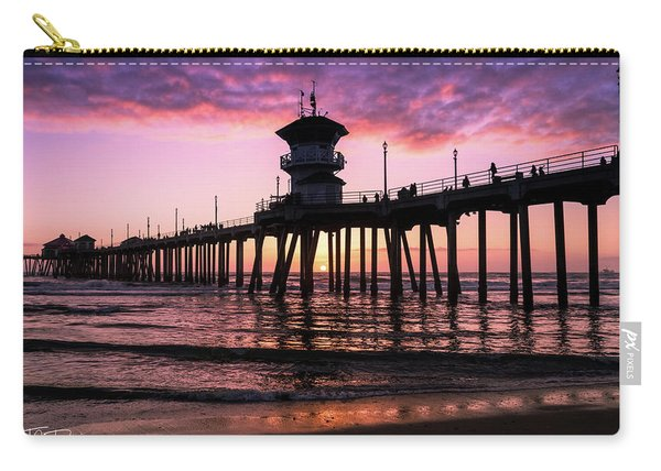 Huntington Pier At Sunset 2 Carry-all Pouch