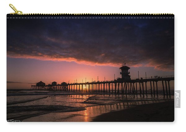 Huntington Pier At Sunset Carry-all Pouch