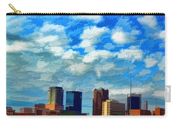Huntsville Alabama Skyline Abstract Art Carry-all Pouch