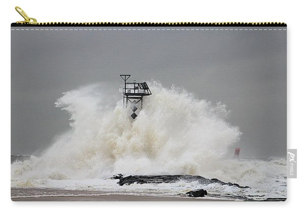 Hurricane Jose Wave At The Inlet Jetty Carry-all Pouch