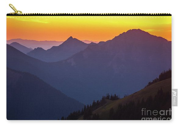 Hurricane Ridge Sunset Layers Carry-all Pouch
