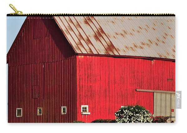 Hwy 47 Red Barn 21x21 Carry-all Pouch