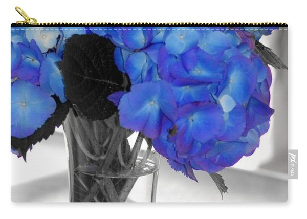 Hydrangea In Glass Carry-all Pouch
