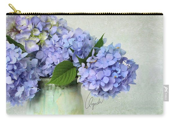 Hydrangea Signed Carry-all Pouch