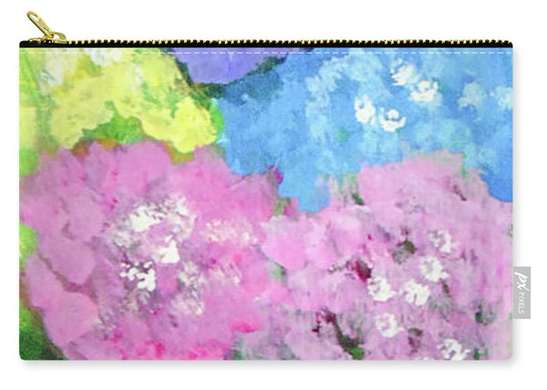 Carry-all Pouch featuring the painting Hydrangeas #2 by Loretta Nash
