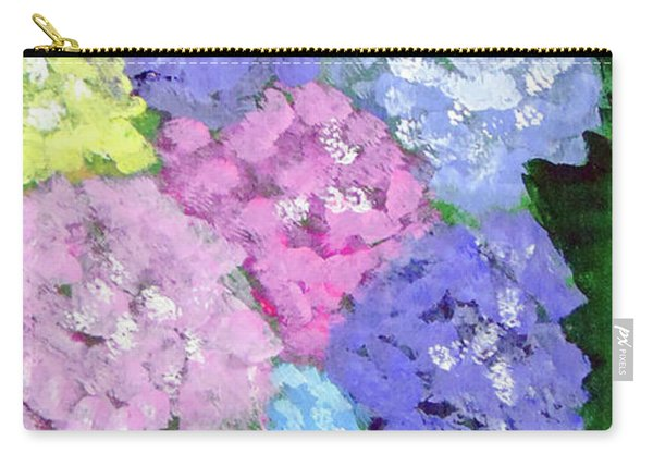 Carry-all Pouch featuring the painting Hydrangeas by Loretta Nash