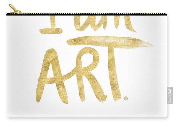 I Am Art Gold - Art By Linda Woods Carry-all Pouch