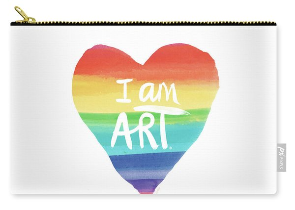 I Am Art Rainbow Heart- Art By Linda Woods Carry-all Pouch