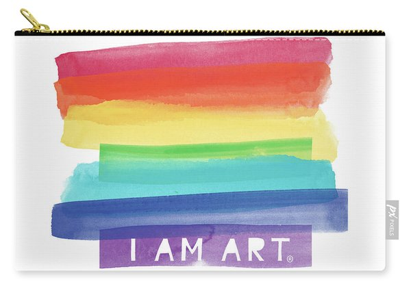 I Am Art Rainbow Stripe- Art By Linda Woods Carry-all Pouch