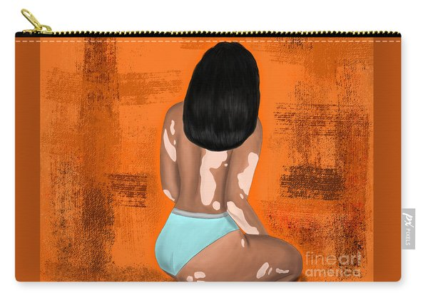 Carry-all Pouch featuring the digital art I Am Enough by Bria Elyce