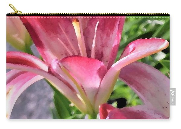 Exquisite Pink Lilies Carry-all Pouch