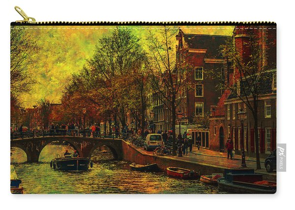 I Amsterdam. Vintage Amsterdam In Golden Light Carry-all Pouch