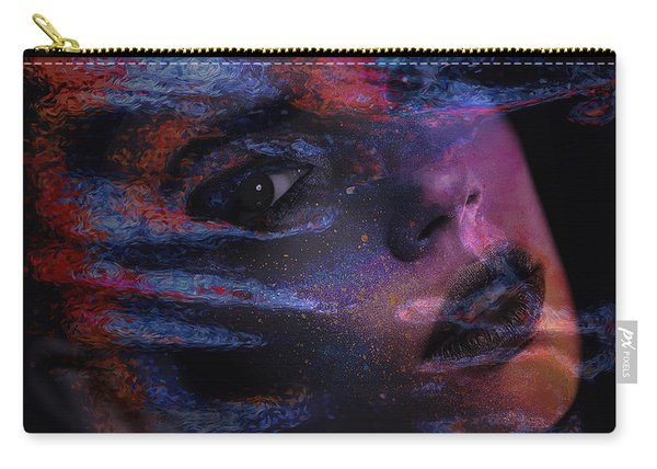 Carry-all Pouch featuring the digital art I Breathe Art Therefore I Am Art by ISAW Company