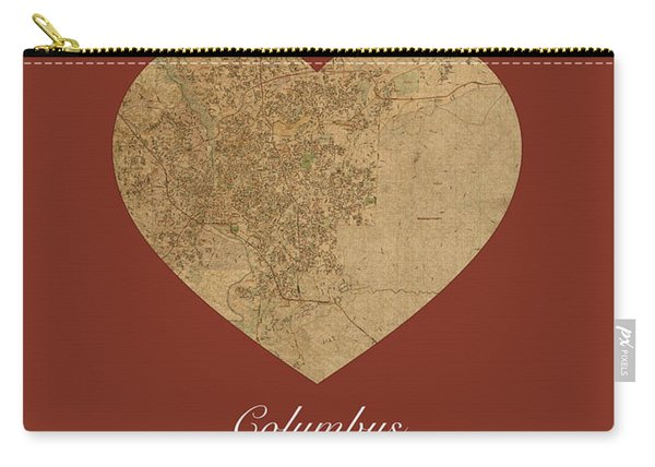 I Heart Columbus Georgia Street Map Love Series No 117 Carry-all Pouch