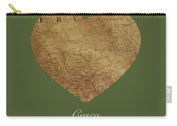I Heart Cusco Peru Street Map Love Series No 095 Carry-all Pouch