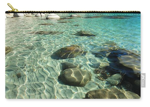 Carry-all Pouch featuring the photograph I Love Her Sandy Bottom by Sean Sarsfield