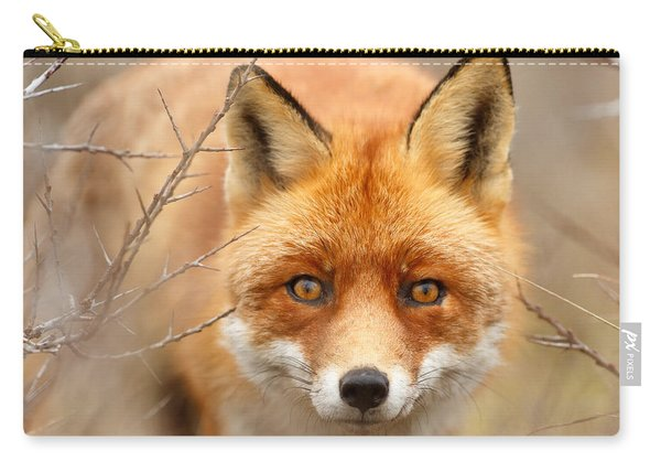 I See You - Red Fox Spotting Me Carry-all Pouch