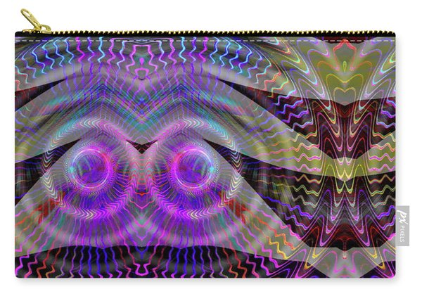 Carry-all Pouch featuring the digital art I See You by Visual Artist Frank Bonilla