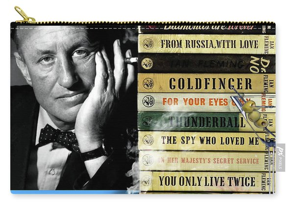 Ian Fleming, All Originals, 14 Novels Collection, James Bond Carry-all Pouch