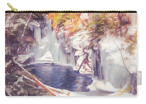 Ice Cold View Of Sages Ravine. Northwest Connecticut Carry-all Pouch