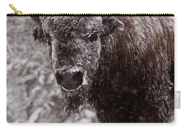 Ice Cold Winter Buffalo Carry-all Pouch
