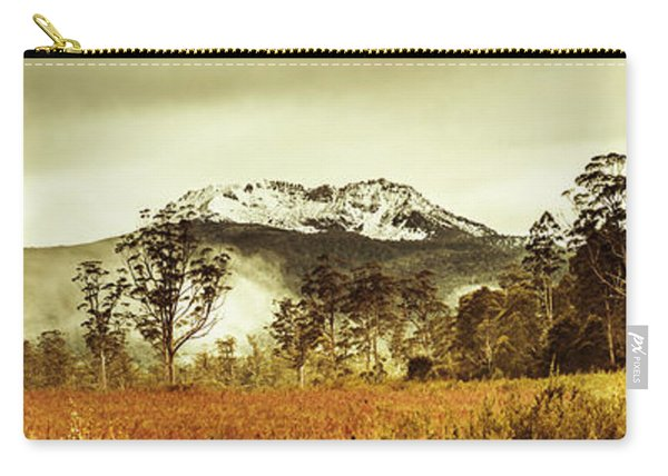 Ice Covered Mountain Panorama In Tasmania Carry-all Pouch