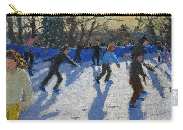 Ice Skaters At Christmas Fayre In Hyde Park  London Carry-all Pouch