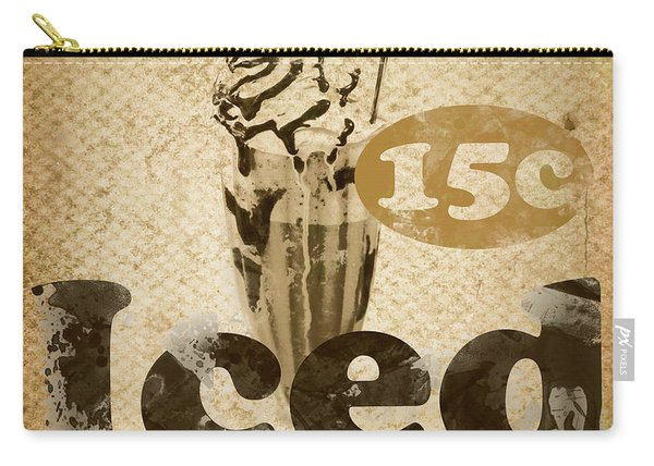 Iced Coffee Cafe Tin Sign Carry-all Pouch