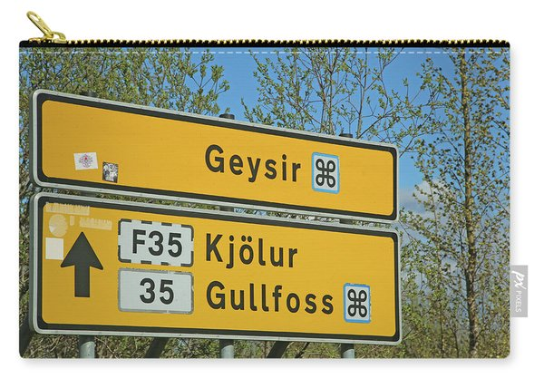 Iceland Road Sign Geysir Carry-all Pouch