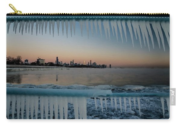 Icicles And Chicago Skyline Carry-all Pouch