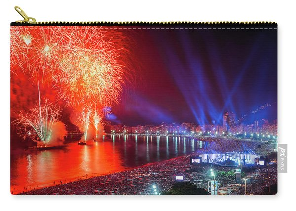 Iconic And Breath-taking Fireworks Display On Copacabana Beach,  Carry-all Pouch