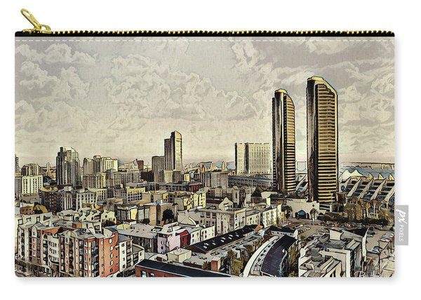 Iconic Harbor Club Towers Carry-all Pouch