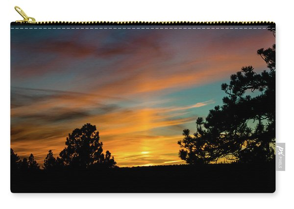 Carry-all Pouch featuring the photograph Icy Pillar by Jason Coward